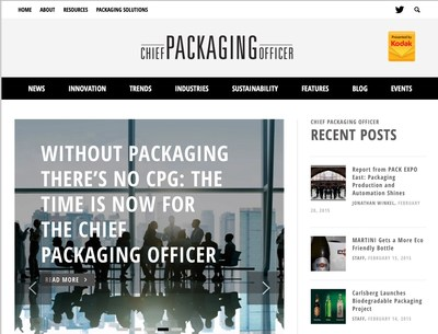 Kodak launches packaging industry content portal, www.chiefpackagingofficer.com, and calls for the creation of a boardroom role recognizing the strategic importance of packaging: The Chief Packaging Officer.