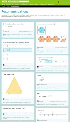 IXL's new personalized recommendations help students make smart decisions about their learning, inspiring them to tackle trouble spots, challenge themselves, and try new topics.