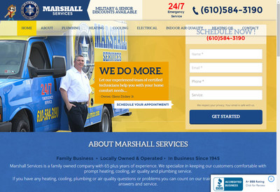 Marshall Services launches new user-friendly website to match their new branding.