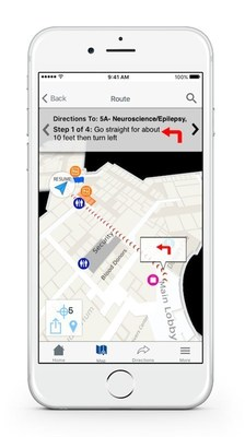 True turn-by-turn indoor navigation will guide users to their appointments, including advanced features like Parking Planner and My Car Saver
