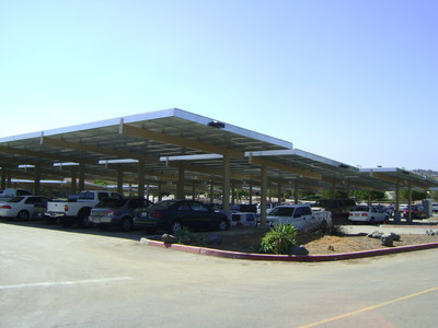 Part of San Dieguito Union High School District's 2MW solar system, which has generated $1.6 million in energy savings to date over the past five years.