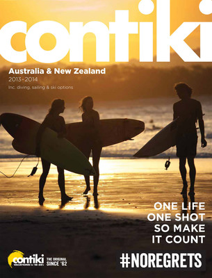 Contiki Australia/New Zealand Brochure for 2013-2014.  (PRNewsFoto/Contiki Vacations)