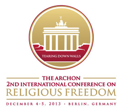 The 2nd Archon International Conference on Religious Freedom will be held in Berlin, Germany December 4-5, 2013. #ReligiousFreedom. (PRNewsFoto/The Order of St. Andrew the Apostle) (PRNewsFoto/THE ORDER OF ST. ANDREW)