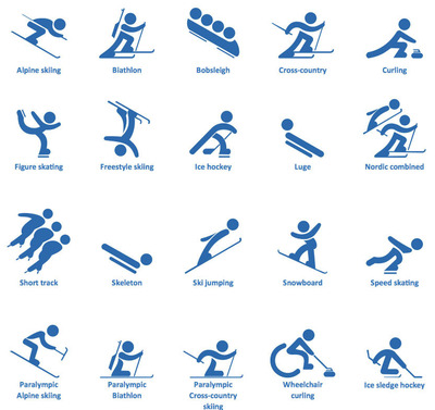 ConceptDraw PRO design elements for Winter sports.  (PRNewsFoto/CS Odessa)