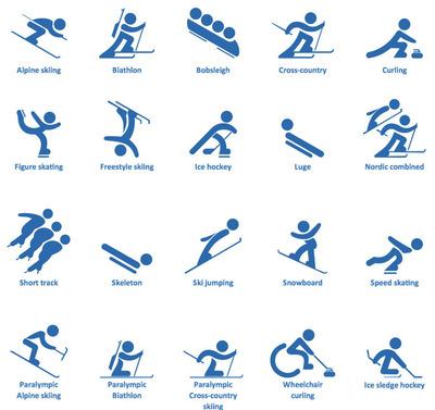 ConceptDraw PRO design elements for Winter sports.  (PRNewsFoto/CS Odessa)