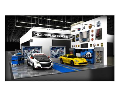 Mopar Garage at 2013 North American International Auto Show.  (PRNewsFoto/Chrysler Group LLC)