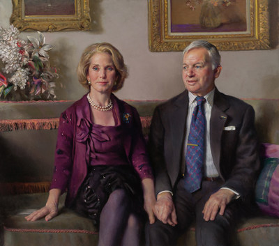 The portrait of Ruth M. and Tristram C. Colket, Jr., commissioned from renowned artist Nelson Shanks.