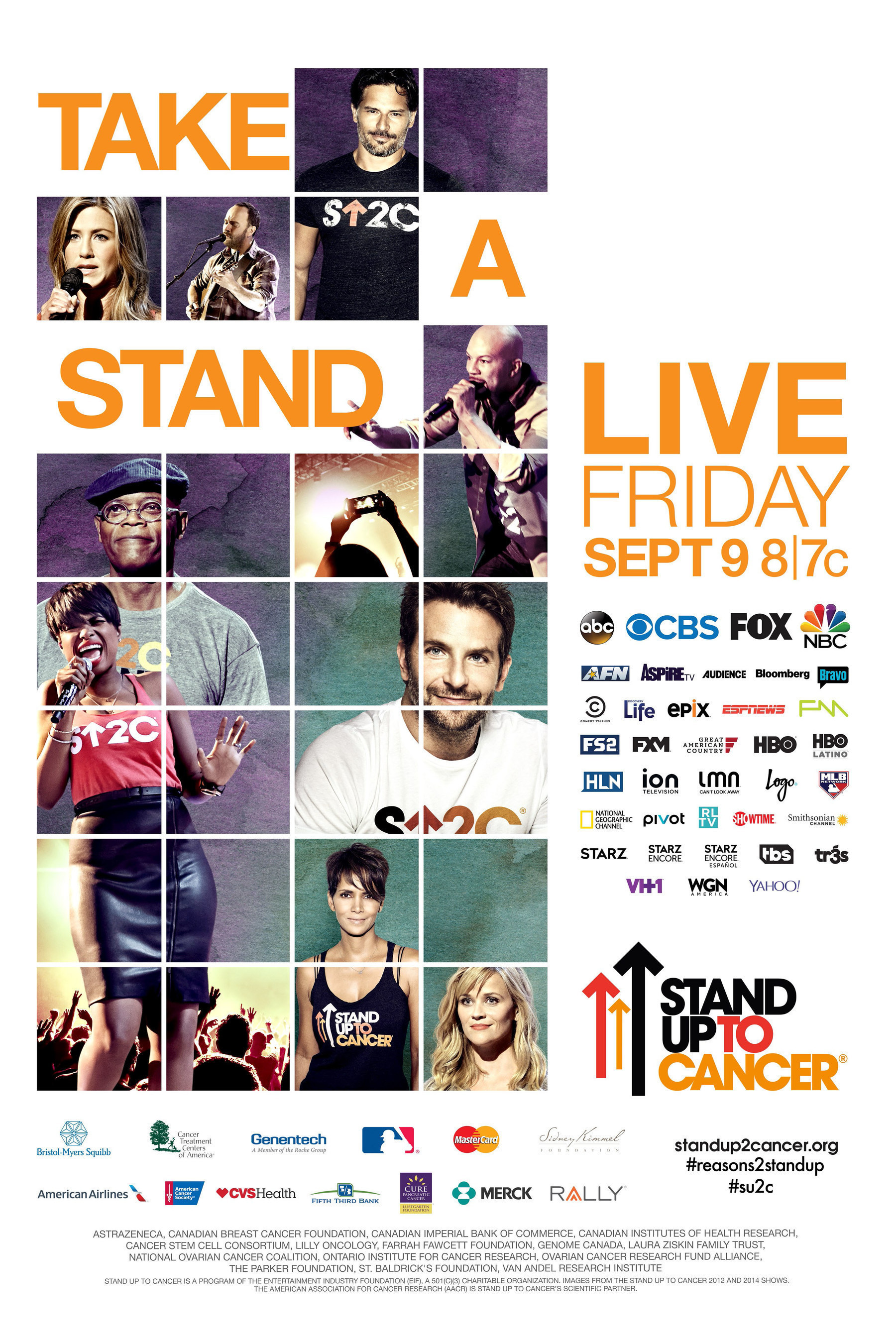 Stand Up To Cancer Returns For Fifth Live Roadblock Telecast 'Friday, September 9 Bradley Cooper To Executive-Produce With Award-Winning Team At Done + Dusted