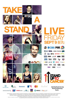 STAND UP TO CANCER RETURNS FOR FIFTH LIVE ROADBLOCK TELECAST FRIDAY, SEPTEMBER 9
