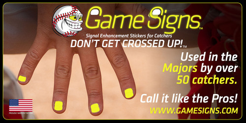 Boston Red Sox Catchers Will Use Game Signs Signal Enhancement Stickers During The 2013 World
