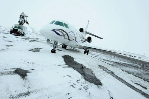 Falcon on site support at Sochi (PRNewsFoto/DASSAULT AVIATION)