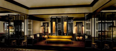 Rendering of the lobby at The Duxton House by Anouska Hempel Design