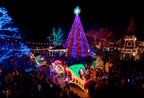 Garnering national recognition for its holiday lights, Silver Dollar City's An Old Time Christmas festival features a 5-story special effects tree with a sound and light show, a light parade and over 4 million lights.  (PRNewsFoto/Silver Dollar City)