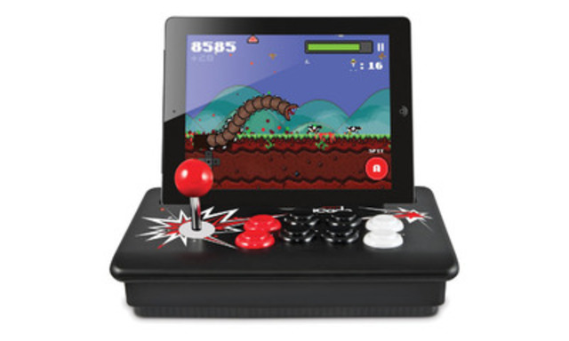 The ION iCade Core has full-sized controls for a genuine arcade experience on iPad or iPad2. With over 500 games including arcade classics like PAC-MAN, Asteroids and Battlezone, you're sure to fill any dull moment with hours of entertainment. Available at Staples for $79.98. (CNW Group/Staples Canada Inc.)