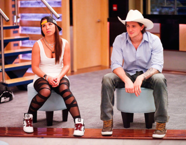 Big Brother Canada houseguests, Kat Yee and Emmett Blois on the block. (CNW Group/SLICE)
