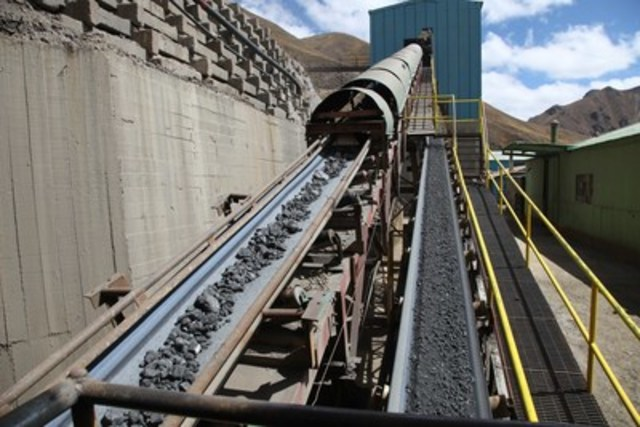 Chumpe Mill at the Yauricocha Mine in Peru (CNW Group/Sierra Metals Inc.)
