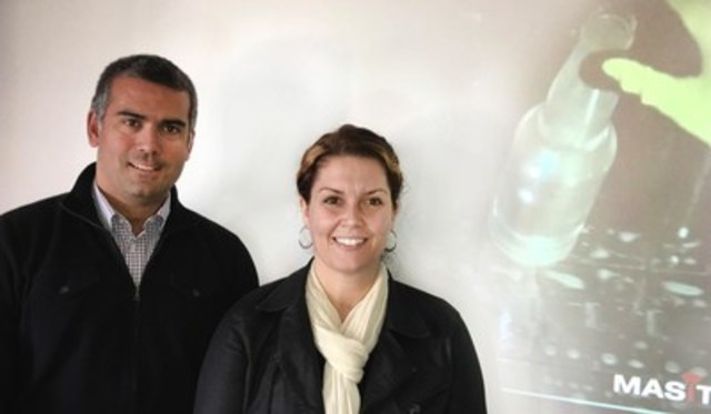 Pablo Asiron new Executive Vice-President of Global Business Development of Moncton-based MASITEK Instruments Inc. and Tracy Clinch, President and CEO. MASITEK is the #1 global leader in virtual remote sensing technology. (CNW Group/MASITEK Instruments Inc.)