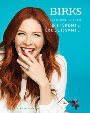 Rachelle Lefevre pour Birks (Groupe CNW/Groupe Birks Inc.)