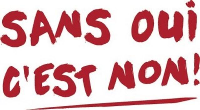 Logo : Sans oui, c'est non! (Groupe CNW/FEDERATION DES ASSOCIATIONS ETUDIANTES DU CAMPUS DE L'UNIVERSITE DE MONTREAL)