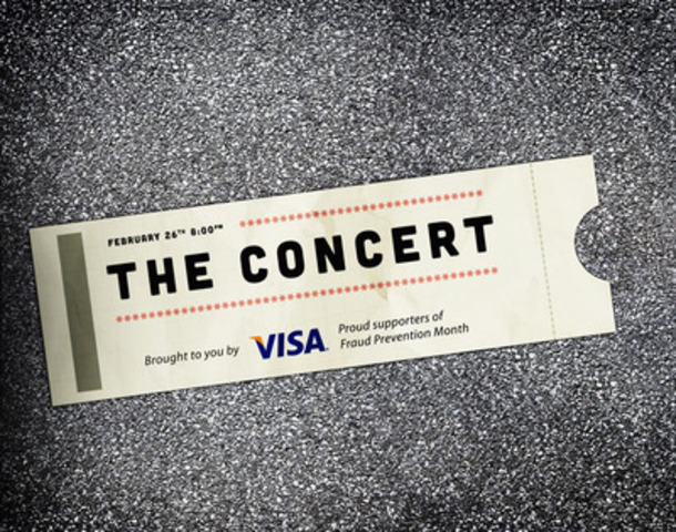 This Fraud Prevention Month, check out www.theconcertbyvisa.ca and learn how to guard your card. (CNW Group/VISA Canada Corporation)