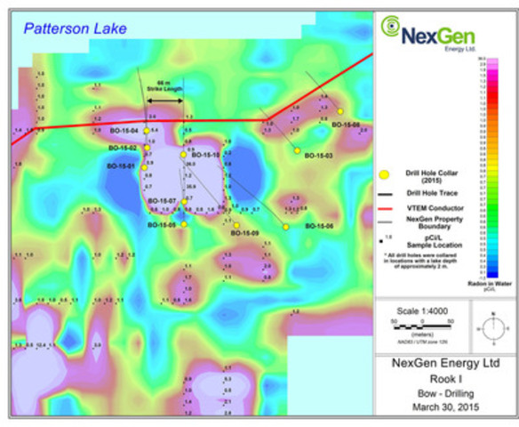 Figure 3: Bow Discovery Drill Locations with Radon Anomalies (CNW Group/NexGen Energy Ltd.)