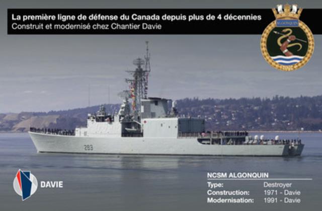 NCSM Algonquin (Groupe CNW/Chantier Davie Canada Inc.)