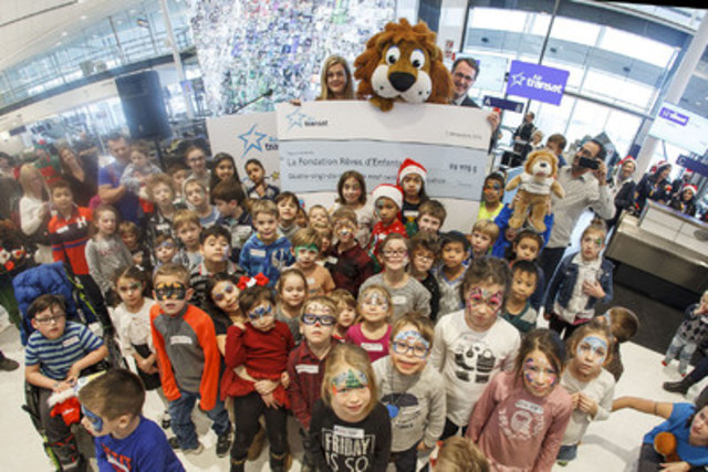 Air Transat's 12th annual Flight in Search of Santa, a joint effort in partnership with Children's ...