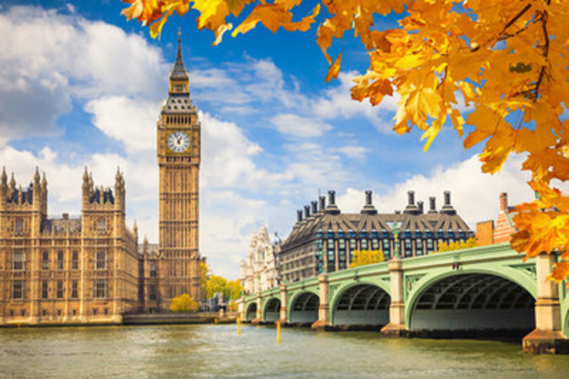 Visit Big Ben in beautiful London, England (CNW Group/Hotels.com)