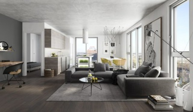 Moored in a modern vision, where natural elements, raw materials and innovative design each play a role, Elements Condominiums offers exciting one- to two-bedroom lifestyle options (CNW Group/Devimco Immobilier)