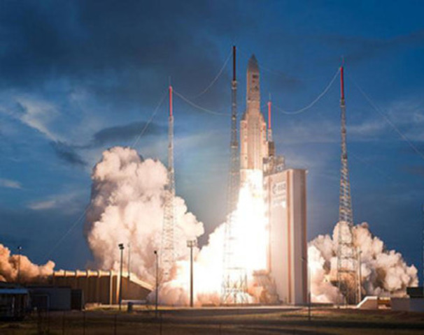 COM DEV On Board: ASTRA-2F is launched from French Guiana on September 28, 2012 (CNW Group/Com Dev International Ltd.)