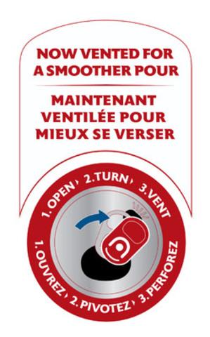 L'orifice de ventilation s'ouvre en trois étapes faciles. (Groupe CNW/Molson Coors Canada)