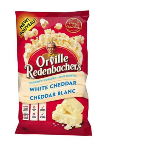 Nouveau maïs soufflé gourmet prêt à manger d'Orville Redenbacher, saveur cheddar blanc (Groupe CNW/ConAgra Foods, Inc.)