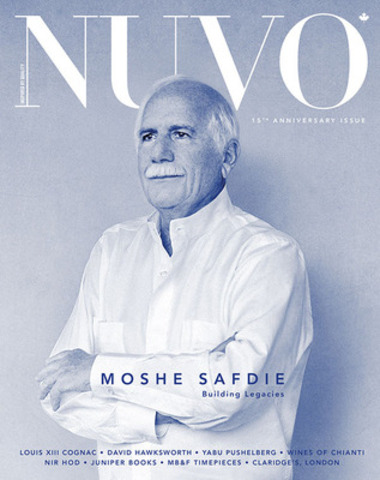 """Architecture is not about building the impossible, which we can do if we have enough money and enough tools and enough computers,"" says architect Moshe Safdie in the winter 15th anniversary issue of NUVO Magazine. ""It is about building what is appropriate and about attaining beauty through such an approach."" www.nuvomagazine.com. (CNW Group/NUVO Magazine Ltd.)"