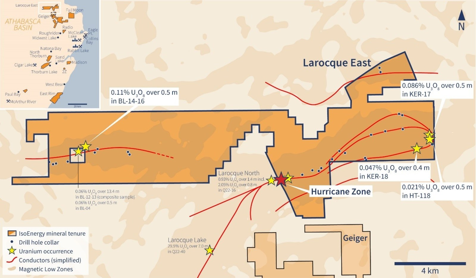 Figure 1 –Larocque East Property Map