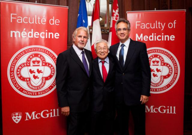 Mr L. Rémillard, Dr Yosh Tagichi, Dr Armen Aprikian (CNW Group/MCGILL UNIVERSITY)