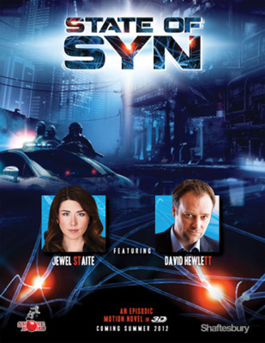 Shaftesbury and Smokebomb Entertainment's new original science fiction digital project, STATE OF SYN, stars Jewel Staite and David Hewlett (CNW Group/Shaftesbury)
