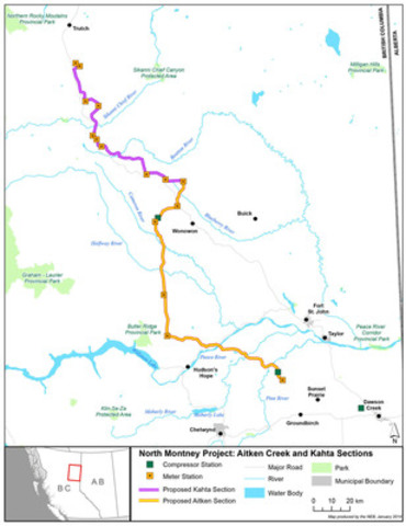 North Montney Project : Aitken Creek and Kahta Sections (CNW Group/National Energy Board)