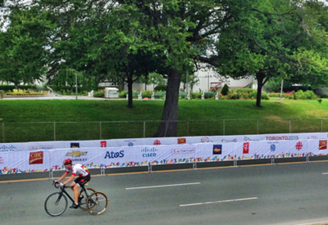 CIBC Team Next cyclist Louis-Albert Jolin-Corriveau wins bronze, Canada's first medal of the Parapan Am Games in Toronto. (CNW Group/Canadian Imperial Bank of Commerce)