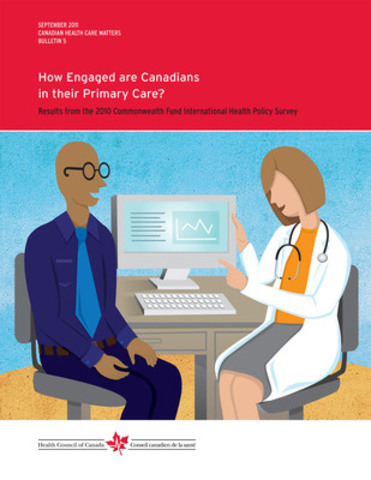 Only 48% of Canadians feel involved and are actively participating in their health care - which affects how they feel about their health. In a new report, the Health Council of Canada takes a look at why less than half of Canadians are taking a more active role in maintaining their health. (CNW Group/Health Council of Canada)
