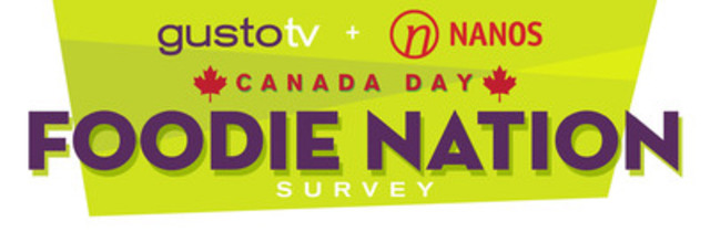 Canada Day Gusto TV - Nanos 'Foodie Nation' Survey shows Canucks have foodie fever gustotv.com (CNW Group/Gusto TV)