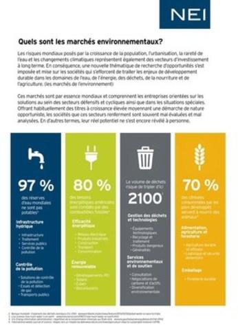 Quels sont les marchés environnementaux? (Groupe CNW/Placements NEI)