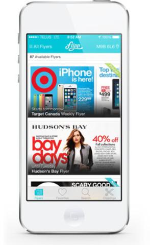 Flipp iPhone image. (CNW Group/Wishabi)