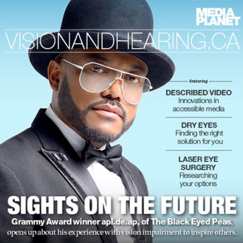 Apl.de.ap of The Black Eyed Peas struggled with blindness his entire life, but was able to persevere and follow his dreams to stardom. He has recently restored his vision through eye surgery, and is focusing on his solo career and charity work (CNW Group/Mediaplanet Ltd)