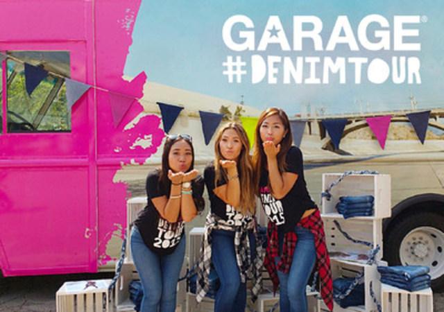 DES JEANS GRATUITS POUR TOUT LE MONDE! Garage célèbre son 40e anniversaire avec sa toute première Tournée denim! La marque distribuera des jeans gratuits aux étudiantes de certains campus universitaires à New York, dans le New Jersey et dans le Connecticut pendant tout le mois de septembre. Suivez le camion avec #denimtour #iweargarage. (Groupe CNW/Groupe Dynamite Inc.)
