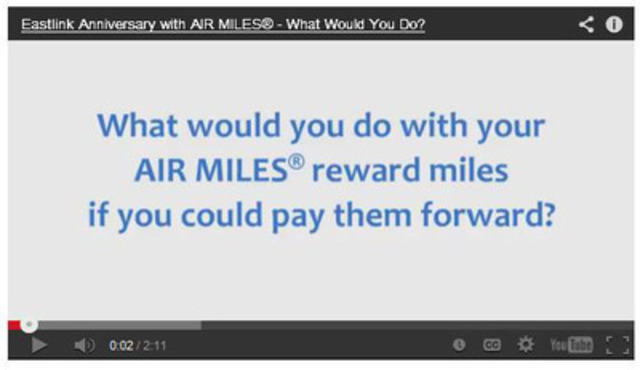 Eastlink asked some Atlantic Canadians how they would pay forward their AIR MILES. Click here to see what they ...