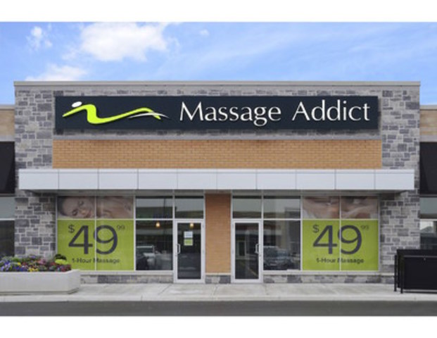 There are 61 Massage Addict clinics across Canada. (CNW Group/Massage Addict)