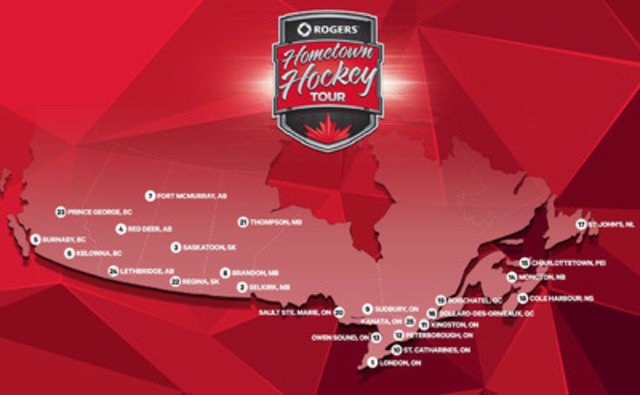 Rogers Hometown Hockey Tour Locations (CNW Group/Sportsnet)