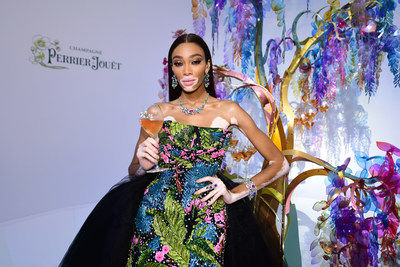 Maison Perrier-Jouët and Winnie Harlow Turn the amfAR Gala Cannes Red Carpet Green With an Extravagant Creation Inspired by Unbridled Nature