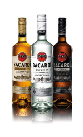 New look, same award winning spirit. BACARDI® RUM UNVEILS BOLD NEW PACK DESIGN. (CNW Group/Bacardi Canada Inc.)