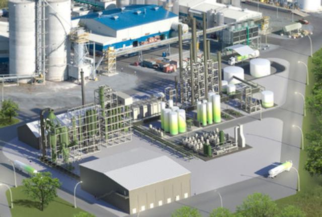 Première usine commerciale d'éthanol à partir de déchets du Québec à Varennes. (Groupe CNW/ENERKEM INC.)